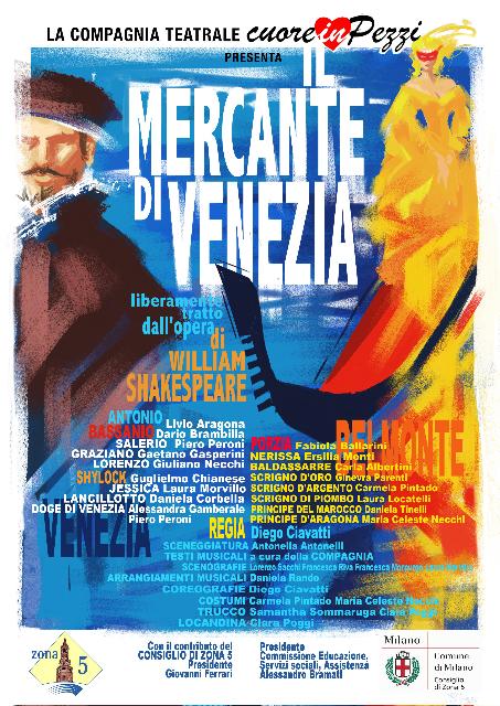 """Locandina """"Il Mercante di Venezia"""""""